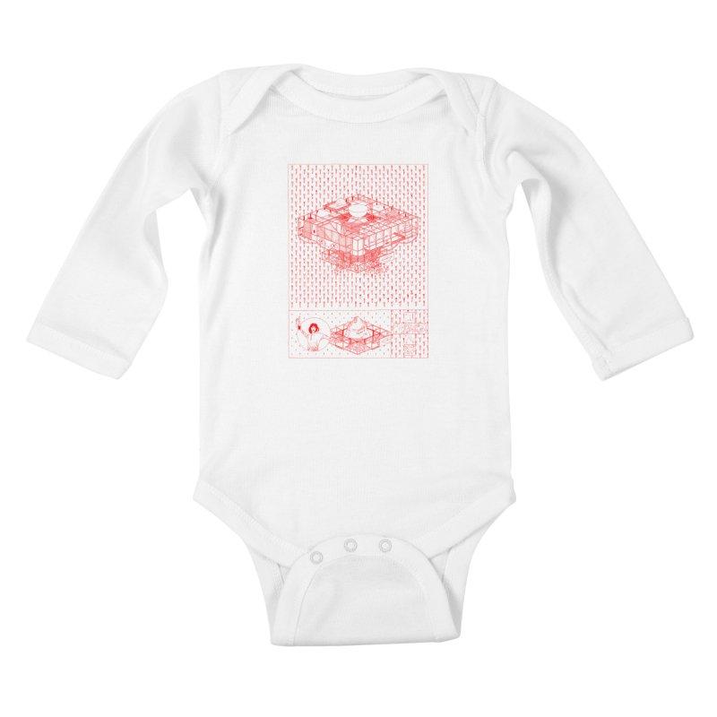 Caramantran Kids Baby Longsleeve Bodysuit by yobann's Artist Shop