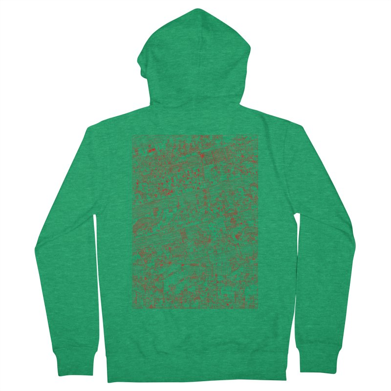 Carnaval Men's French Terry Zip-Up Hoody by yobann's Artist Shop