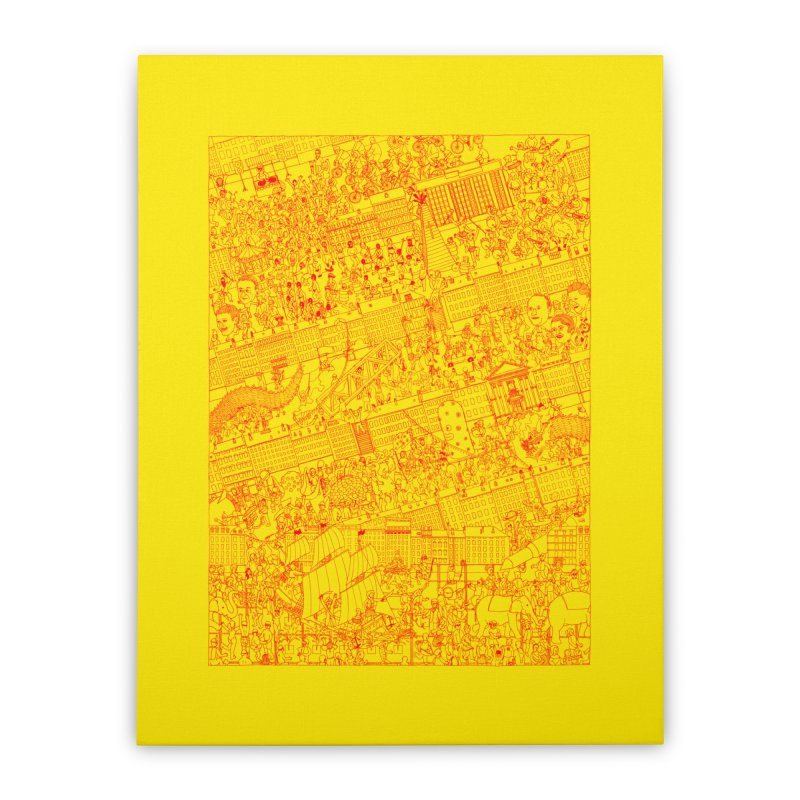 Carnaval Home Stretched Canvas by yobann's Artist Shop