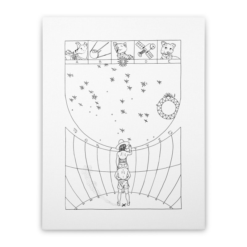 Scaphé Home Stretched Canvas by yobann's Artist Shop