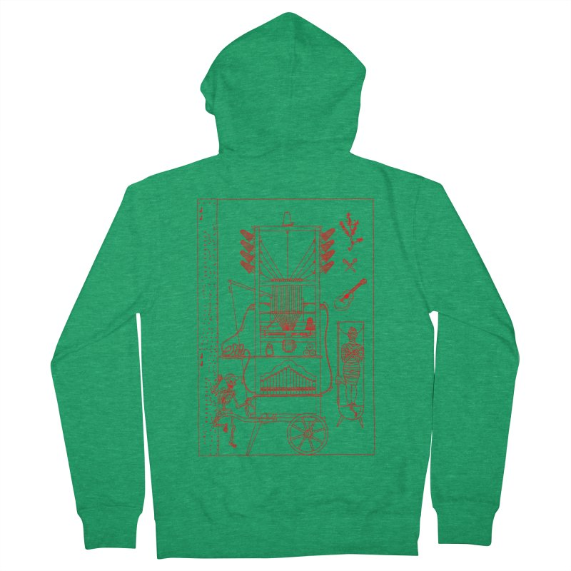 Orgue Men's French Terry Zip-Up Hoody by yobann's Artist Shop