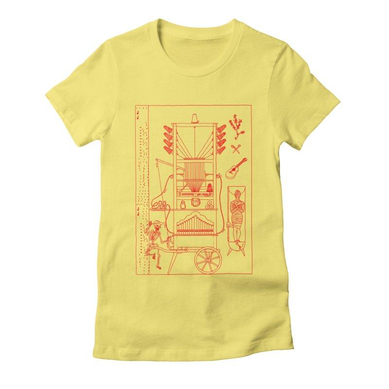 Orgue Women's Fitted T-Shirt by yobann's Artist Shop