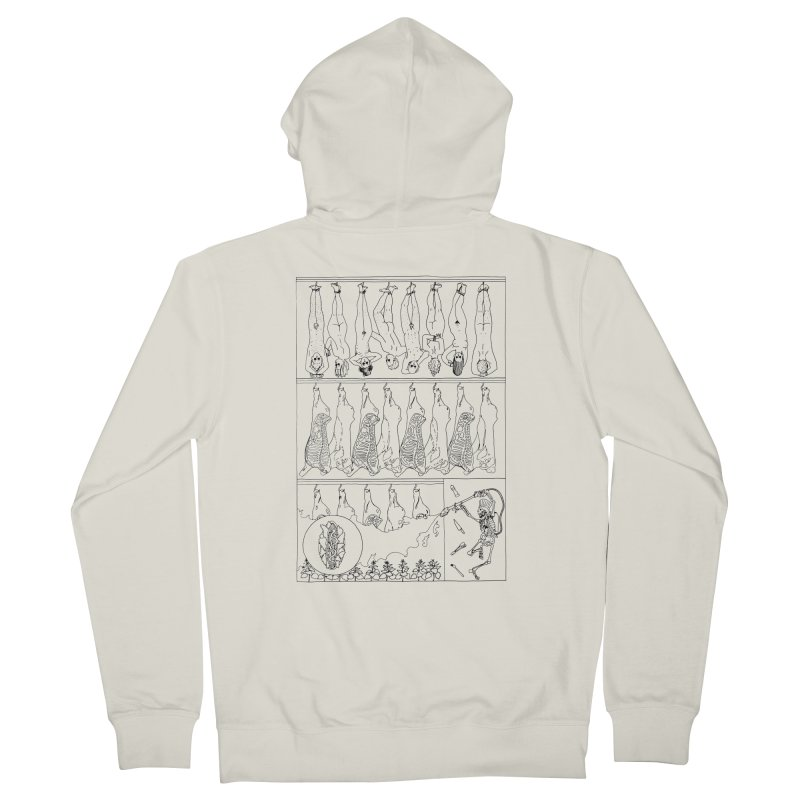 Fresh Flesh Women's Zip-Up Hoody by yobann's Artist Shop