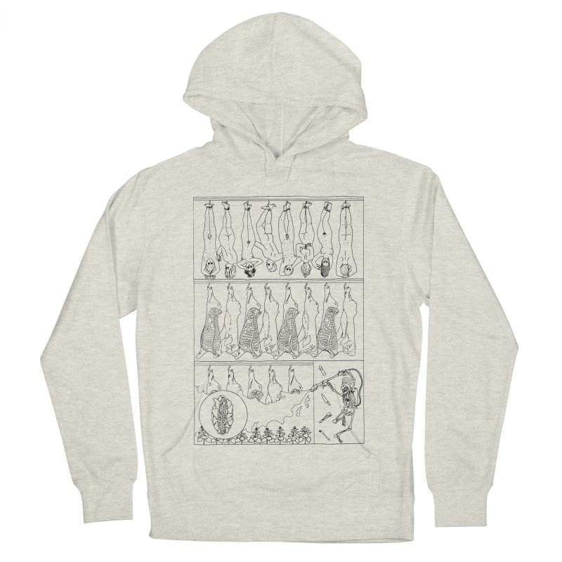 Fresh Flesh Men's French Terry Pullover Hoody by yobann's Artist Shop
