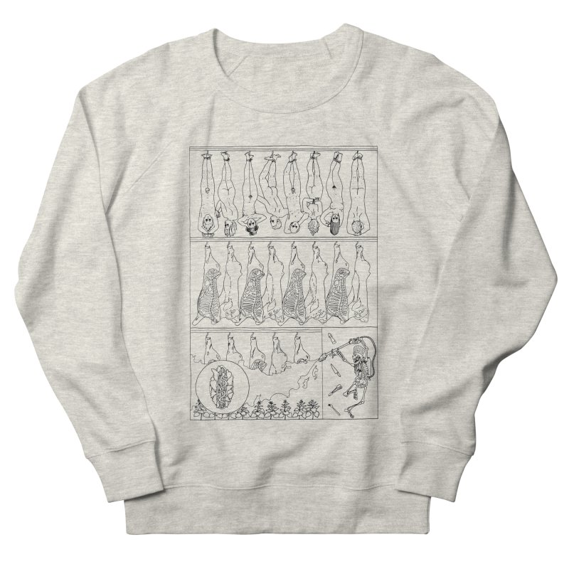 Fresh Flesh Women's French Terry Sweatshirt by yobann's Artist Shop