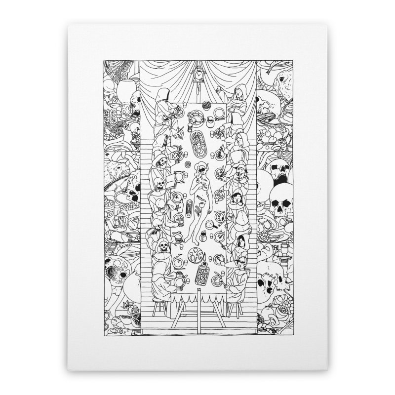 Happy Meal Home Stretched Canvas by yobann's Artist Shop