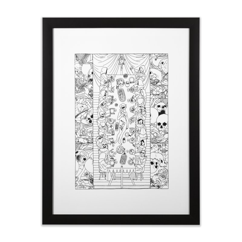 Happy Meal Home Framed Fine Art Print by yobann's Artist Shop