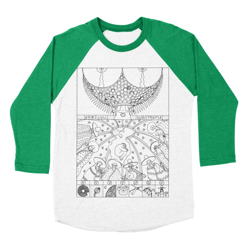 Substantia Women's Baseball Triblend Longsleeve T-Shirt by yobann's Artist Shop