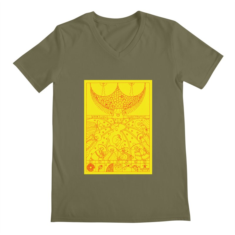 Substantia Men's Regular V-Neck by yobann's Artist Shop
