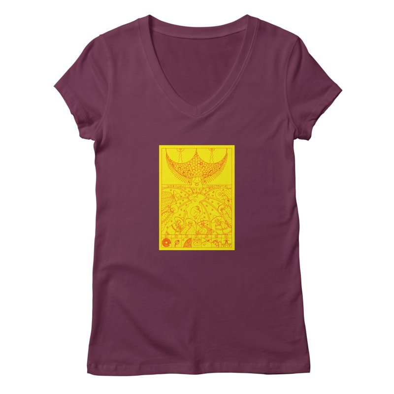 Substantia Women's V-Neck by yobann's Artist Shop