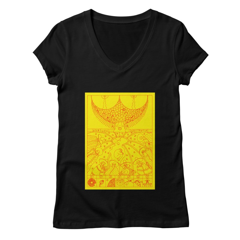Substantia Women's V-Neck by yobann's Artist Shop