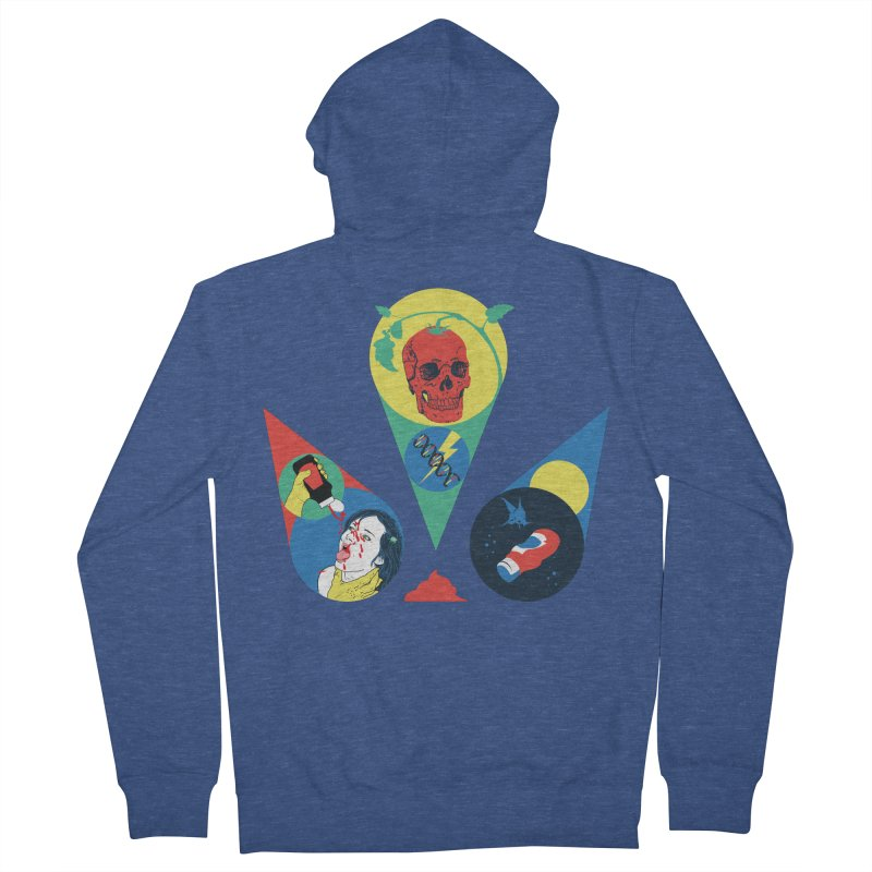 DEATH SAUCE Women's French Terry Zip-Up Hoody by yobann's Artist Shop
