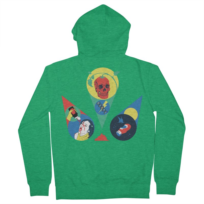 DEATH SAUCE Men's French Terry Zip-Up Hoody by yobann's Artist Shop