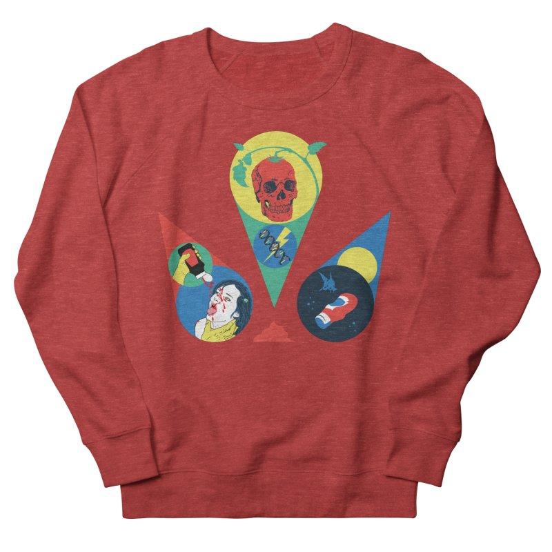 DEATH SAUCE Men's French Terry Sweatshirt by yobann's Artist Shop