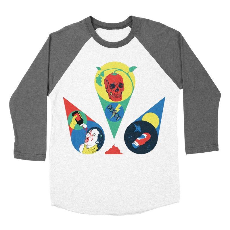 DEATH SAUCE Women's Baseball Triblend Longsleeve T-Shirt by yobann's Artist Shop