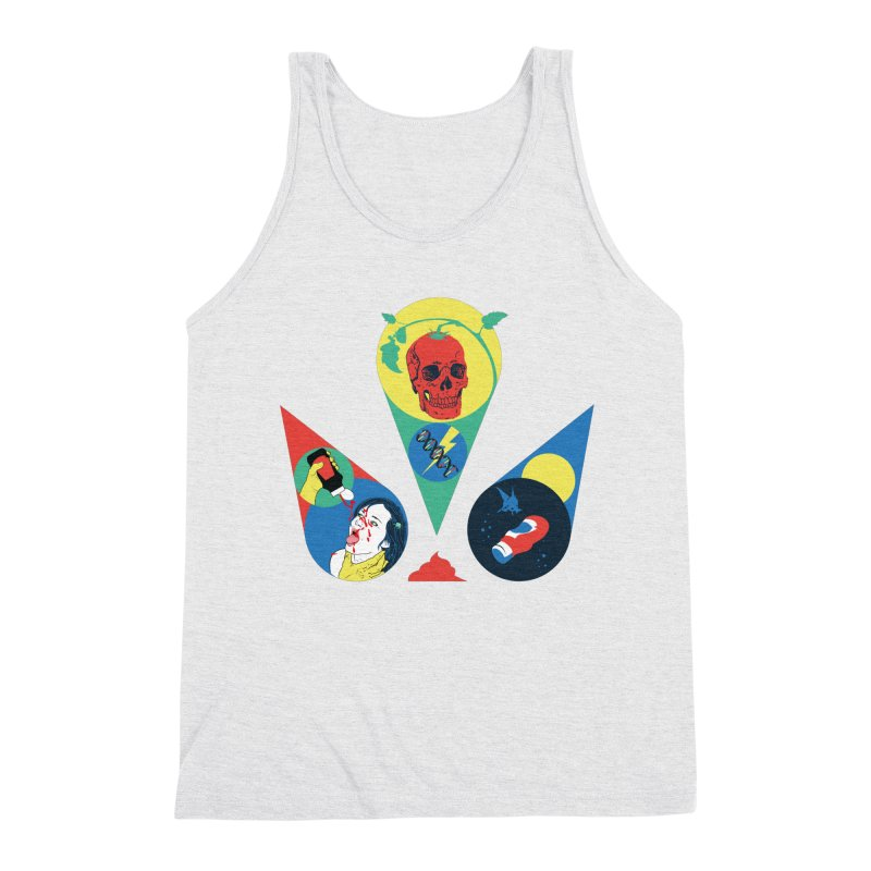 DEATH SAUCE Men's Triblend Tank by yobann's Artist Shop