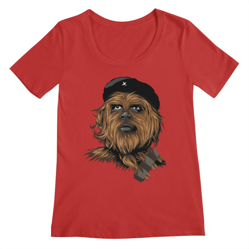 Chewie Guevara Women's Scoop Neck by yobann's Artist Shop