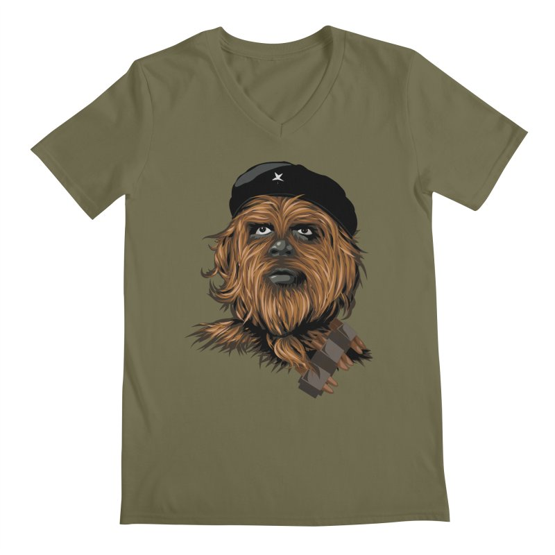 Chewie Guevara Men's Regular V-Neck by yobann's Artist Shop