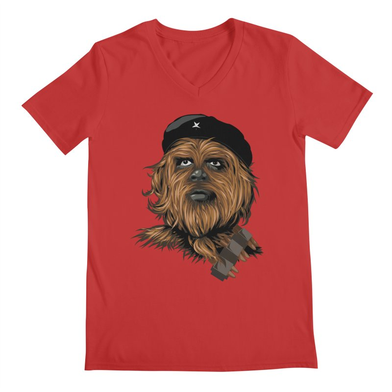 Chewie Guevara Men's Regular V-Neck by yobann's Artist Shop