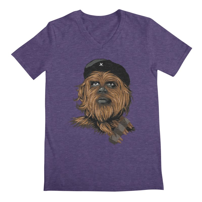 Chewie Guevara Men's V-Neck by yobann's Artist Shop