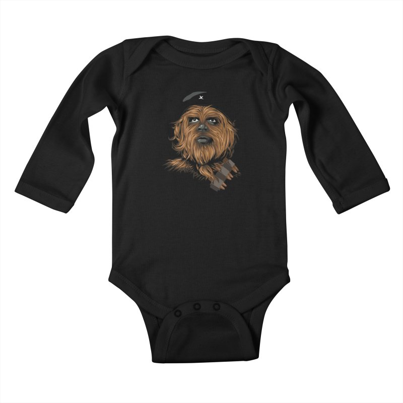 Chewie Guevara Kids Baby Longsleeve Bodysuit by yobann's Artist Shop