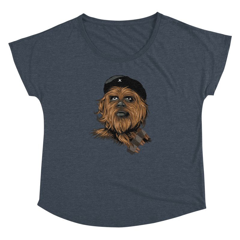 Chewie Guevara Women's Dolman Scoop Neck by yobann's Artist Shop