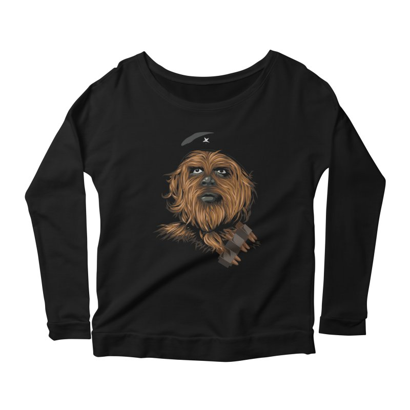 Chewie Guevara Women's Scoop Neck Longsleeve T-Shirt by yobann's Artist Shop