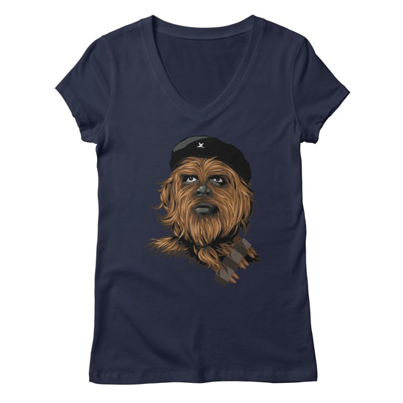 Chewie Guevara Women's V-Neck by yobann's Artist Shop