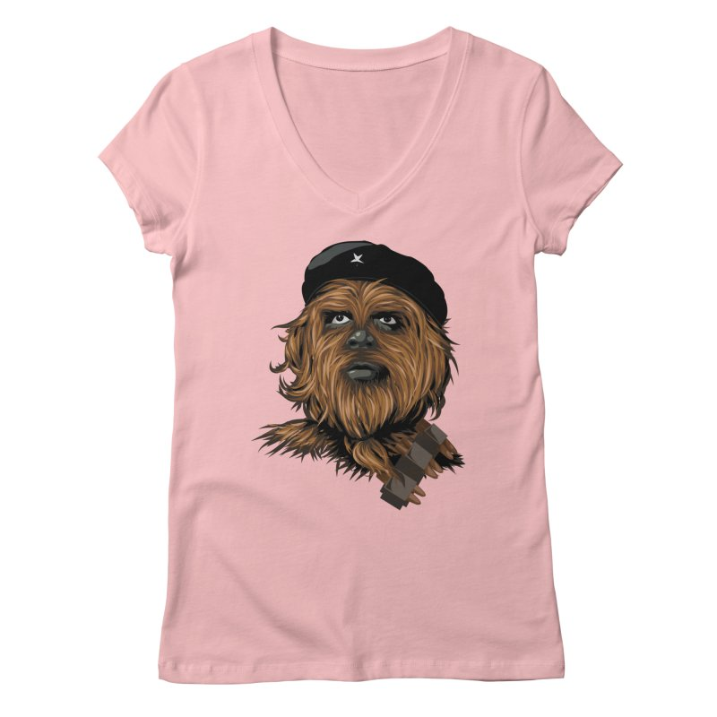 Chewie Guevara Women's Regular V-Neck by yobann's Artist Shop