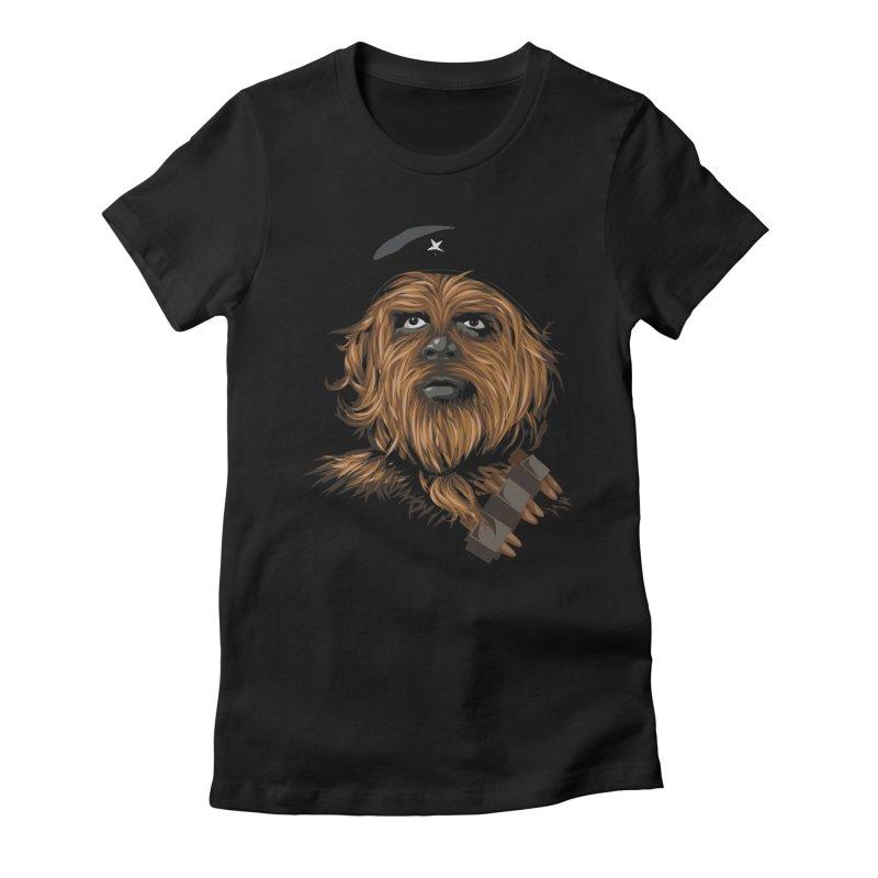 Chewie Guevara Women's Fitted T-Shirt by yobann's Artist Shop