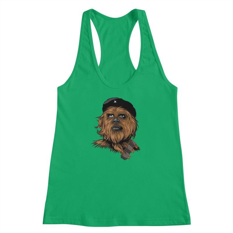 Chewie Guevara Women's Racerback Tank by yobann's Artist Shop
