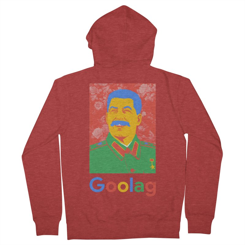 Stalin Goolag Men's French Terry Zip-Up Hoody by yobann's Artist Shop