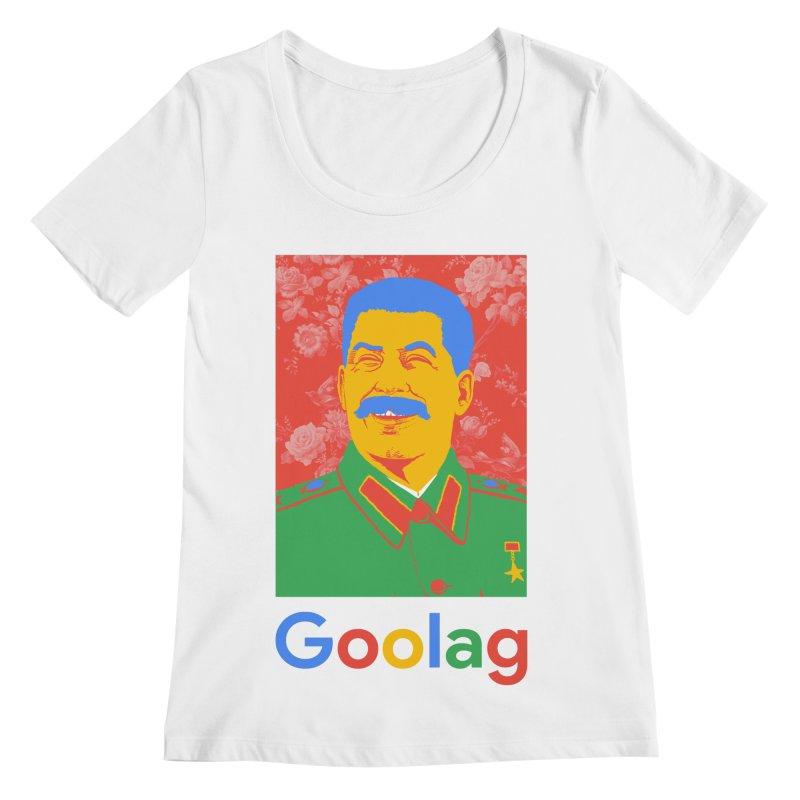 Stalin Goolag Women's Regular Scoop Neck by yobann's Artist Shop