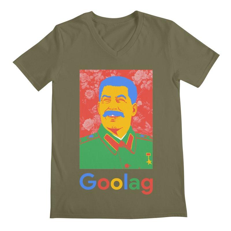Stalin Goolag Men's V-Neck by yobann's Artist Shop
