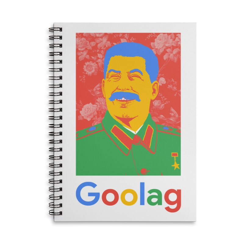 Stalin Goolag Accessories Lined Spiral Notebook by yobann's Artist Shop