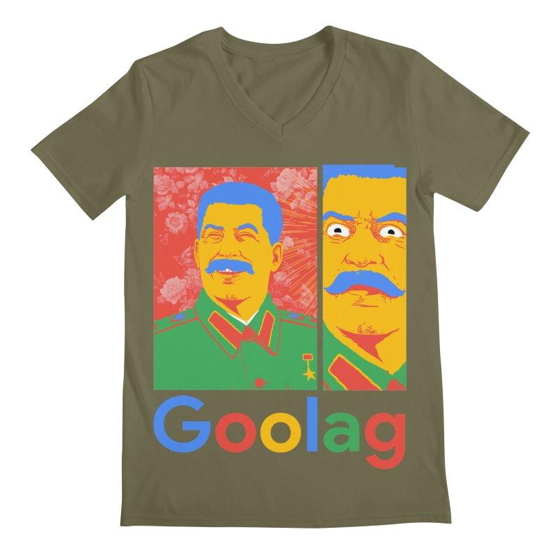 Stalin Goolag Men's Regular V-Neck by yobann's Artist Shop