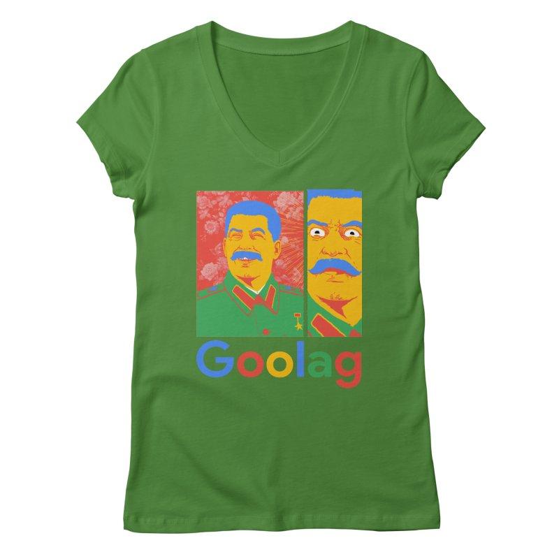 Stalin Goolag Women's V-Neck by yobann's Artist Shop