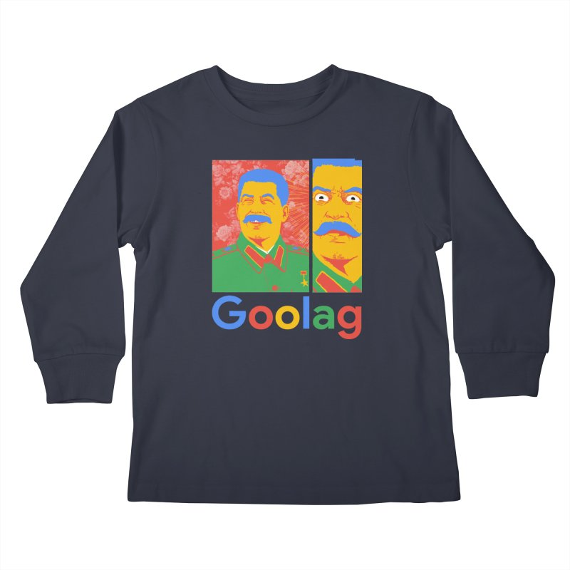 Stalin Goolag Kids Longsleeve T-Shirt by yobann's Artist Shop