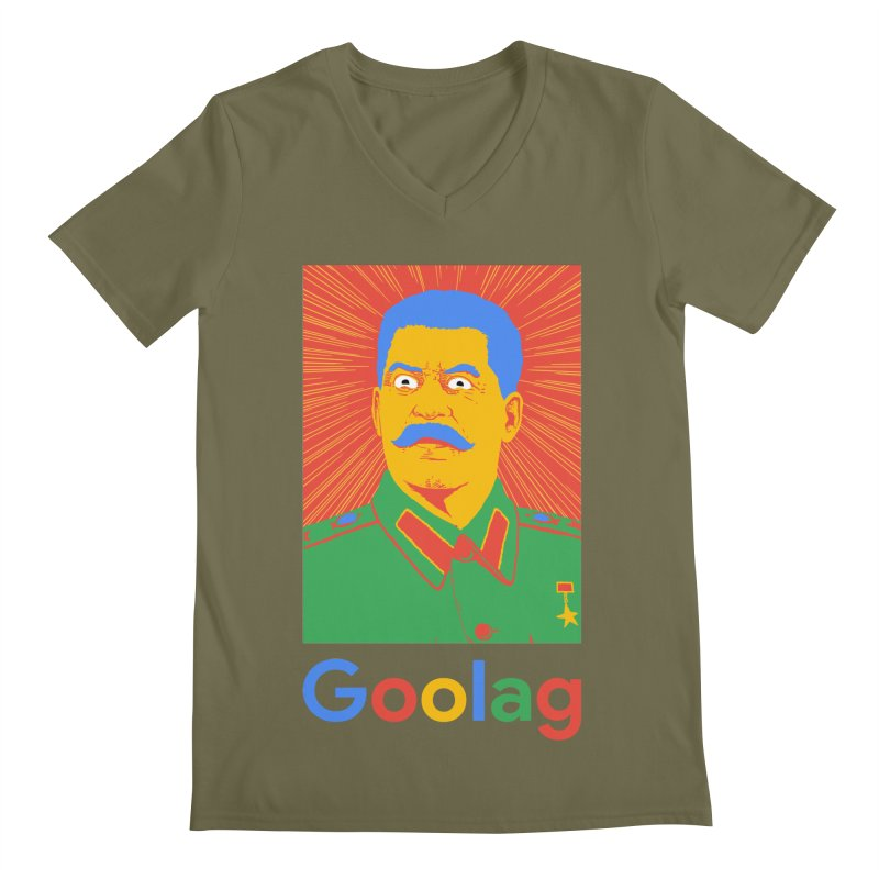 Stalin Goolag Men's V-Neck by yobann's Artist Shop