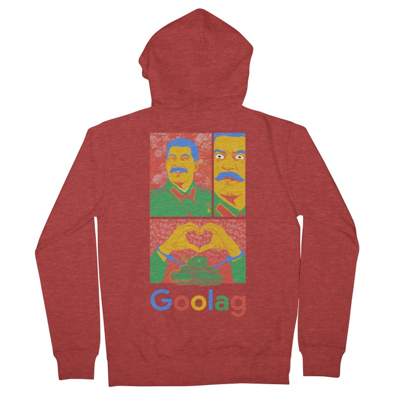 Stalin Goolag Women's French Terry Zip-Up Hoody by yobann's Artist Shop