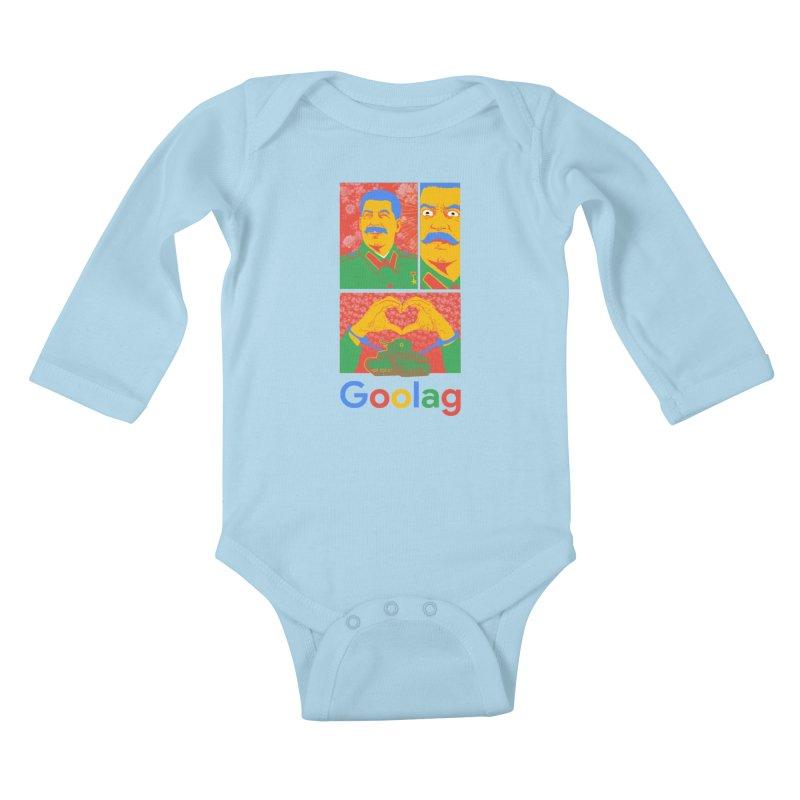 Stalin Goolag Kids Baby Longsleeve Bodysuit by yobann's Artist Shop