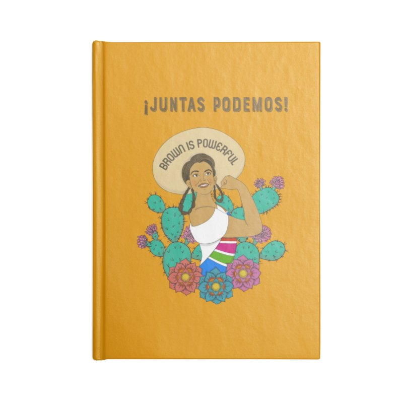 Brown is Powerful Accessories Lined Journal Notebook by yocelynriojas's Artist Shop
