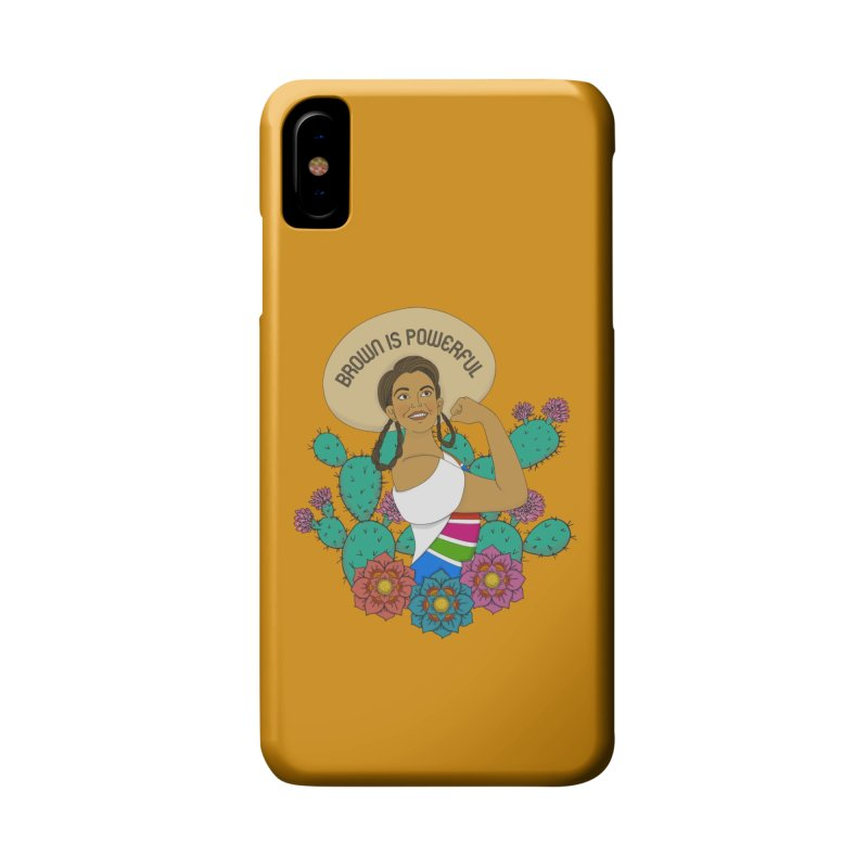 Brown is Powerful Accessories Phone Case by yocelynriojas's Artist Shop