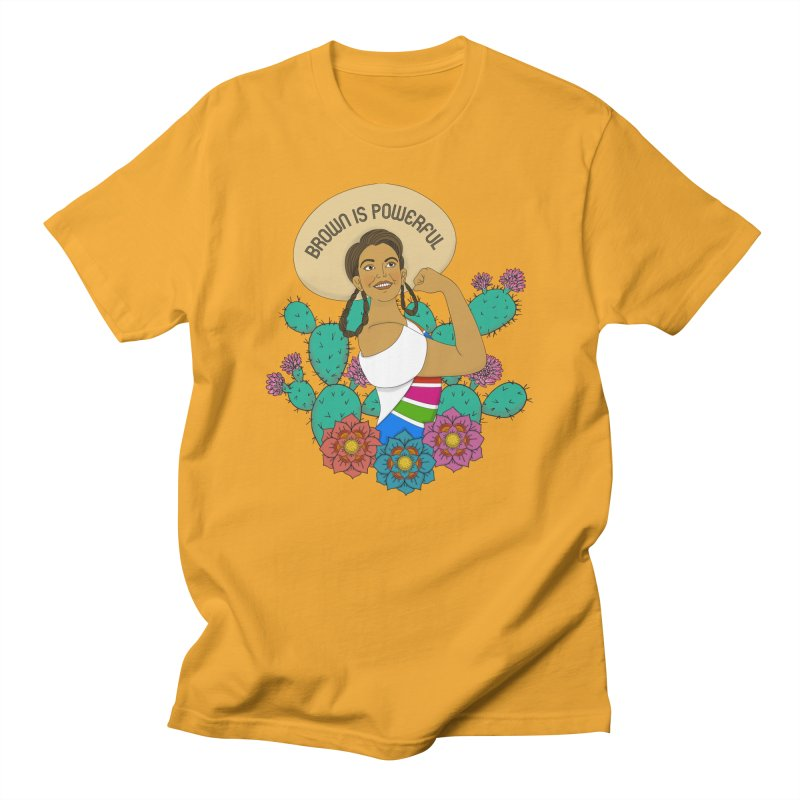 Brown is Powerful Men's T-Shirt by yocelynriojas's Artist Shop