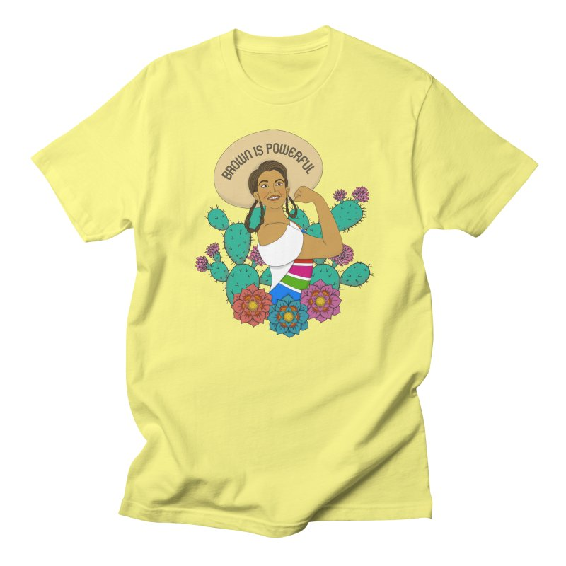 Brown is Powerful Women's Regular Unisex T-Shirt by yocelynriojas's Artist Shop