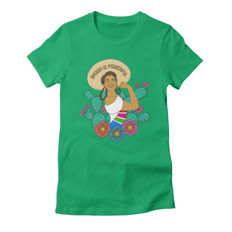 Brown is Powerful Women's T-Shirt by yocelynriojas's Artist Shop