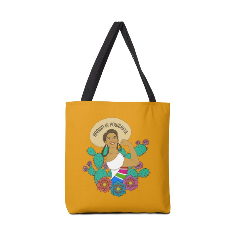 Brown is Powerful Accessories Tote Bag Bag by yocelynriojas's Artist Shop