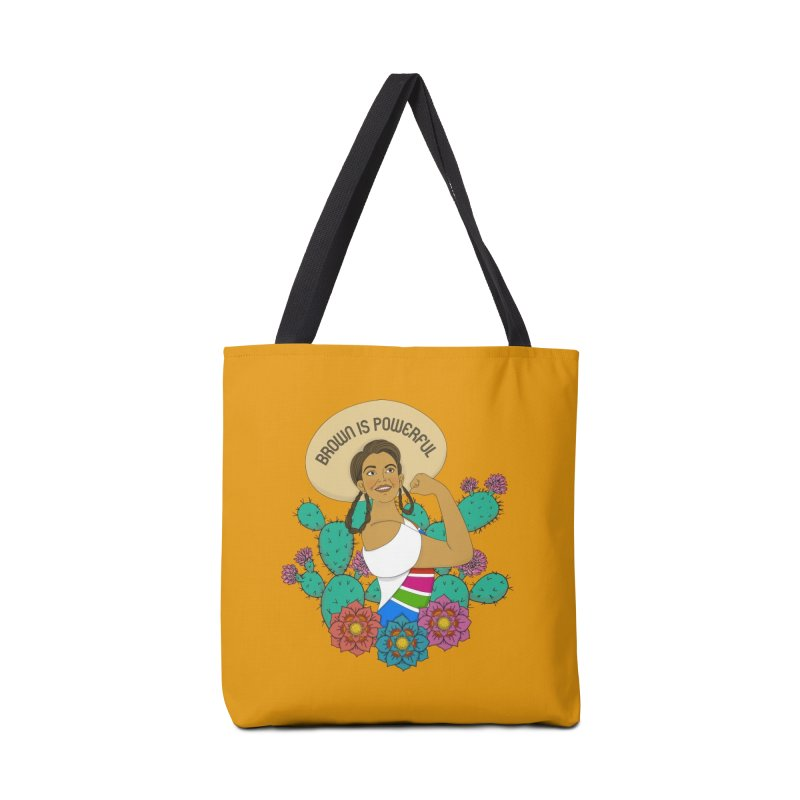 Brown is Powerful Accessories Bag by yocelynriojas's Artist Shop