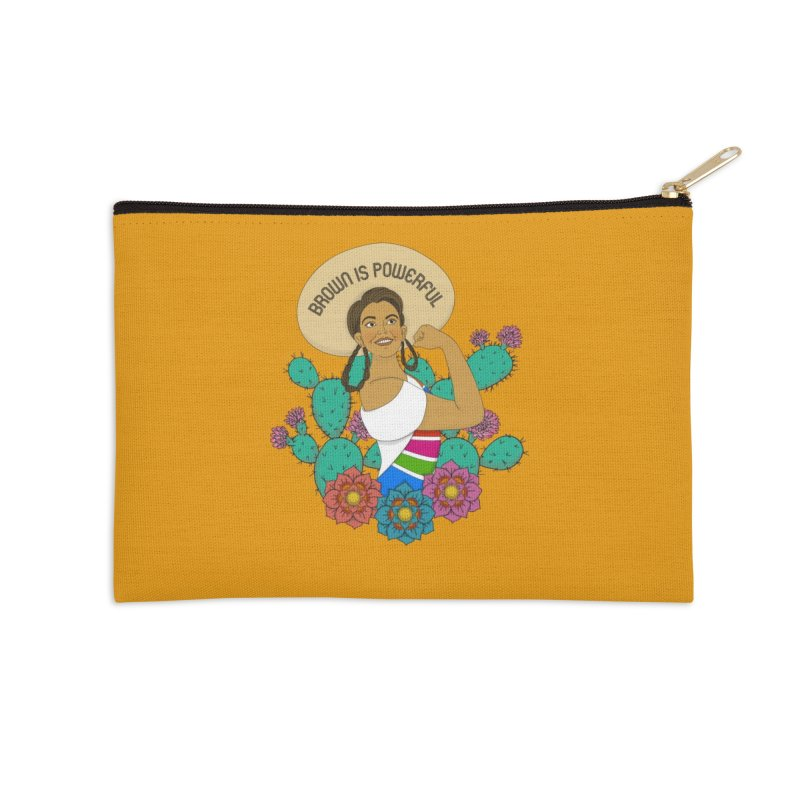 Brown is Powerful Accessories Zip Pouch by yocelynriojas's Artist Shop