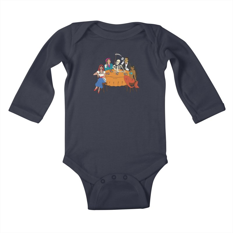 Loteria Party Kids Baby Longsleeve Bodysuit by yocelynriojas's Artist Shop